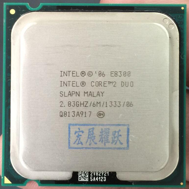 Intel  Core 2 Duo Processor E8300  (6M Cache, 2.83 GHz, 1333 MHz FSB) SLAPN LGA 775 D esktop CPU Intel central processing unit