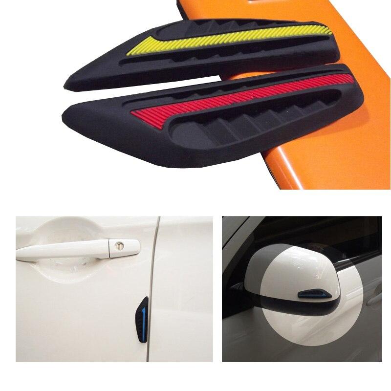 4 pces carro traseiro mirrow protetor de porta guarda borda canto tira pára porta bater anti-colisão guarnição proteção de moldagem
