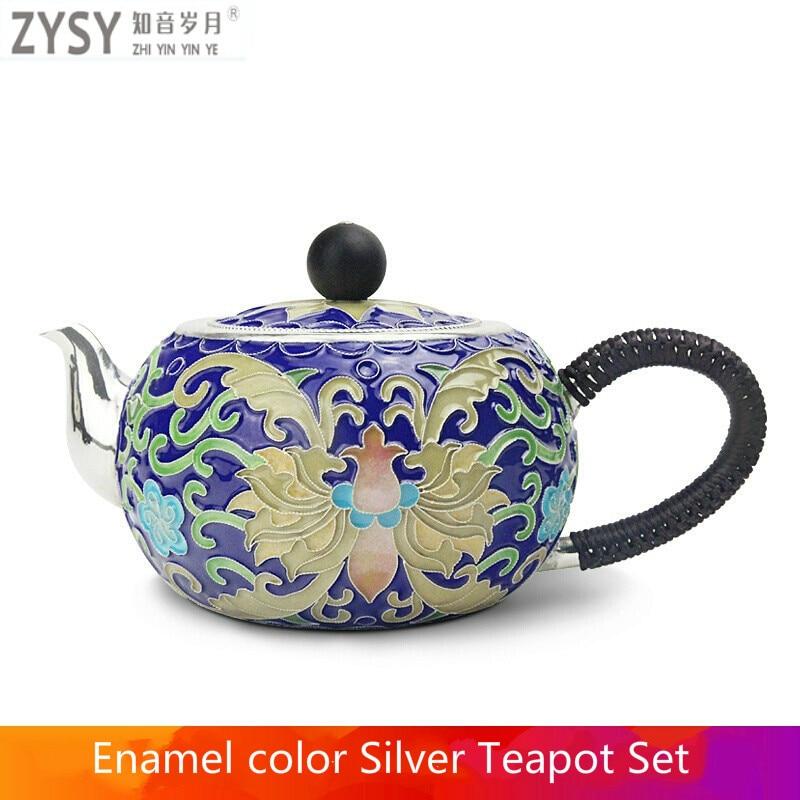 إبريق شاي من الفضة النقية exquisi ، غلاية الشاي ، طقم شاي الكونغ فو الصيني ، أدوات الشرب