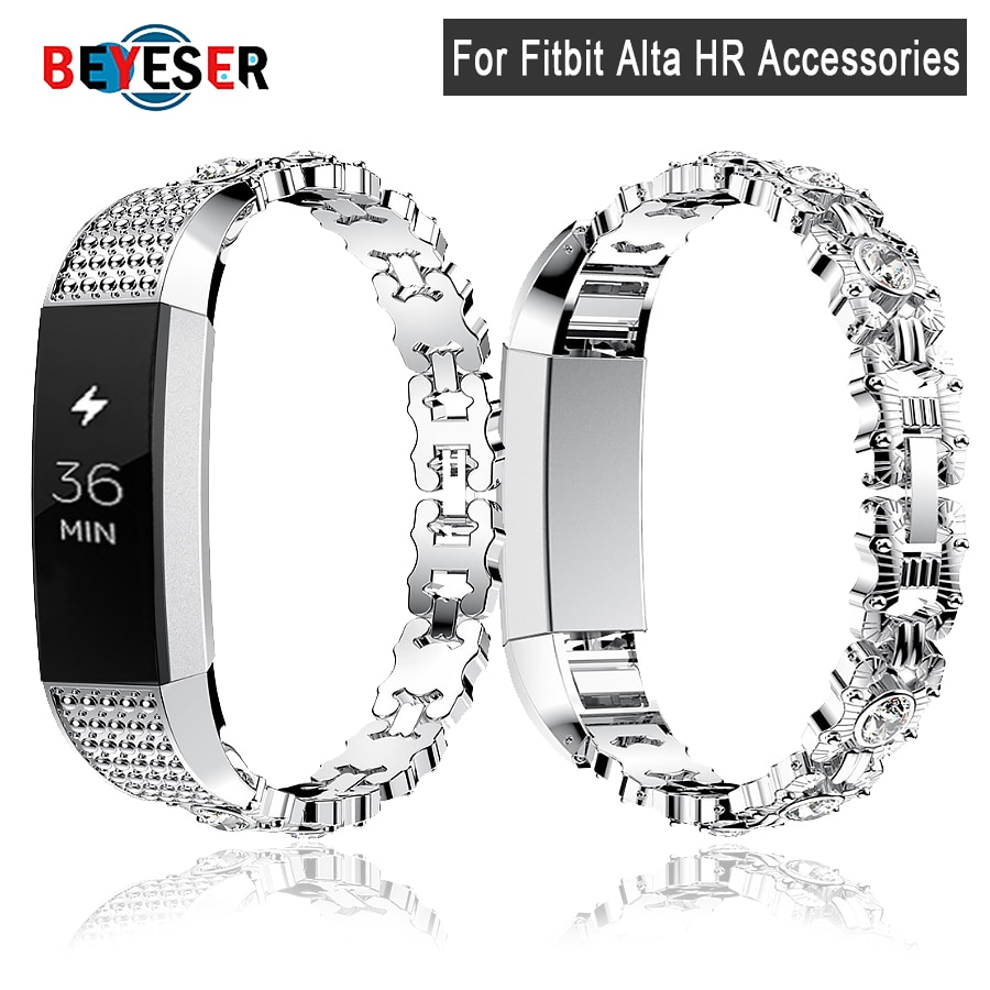 For Fitbit Alta HR High quality Genuine Watch Bracelet with Rhinestone Band Strap for Fitbit Alta Sm
