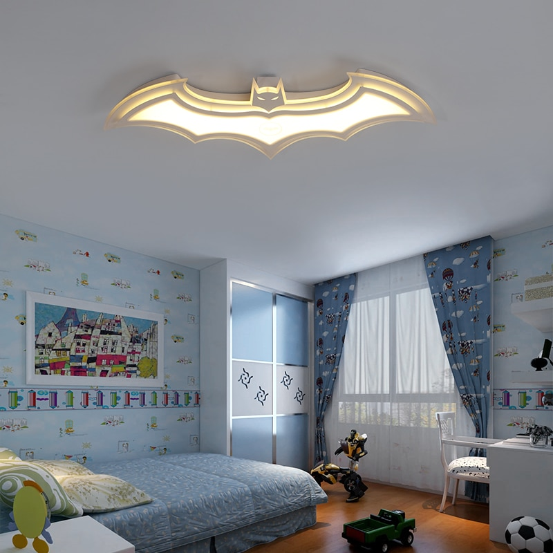 Batman led ceiling lights for kids room Bedroom balcony home Dec AC85-265V acrylic modern led ceiling lamp for childroom room  - buy with discount