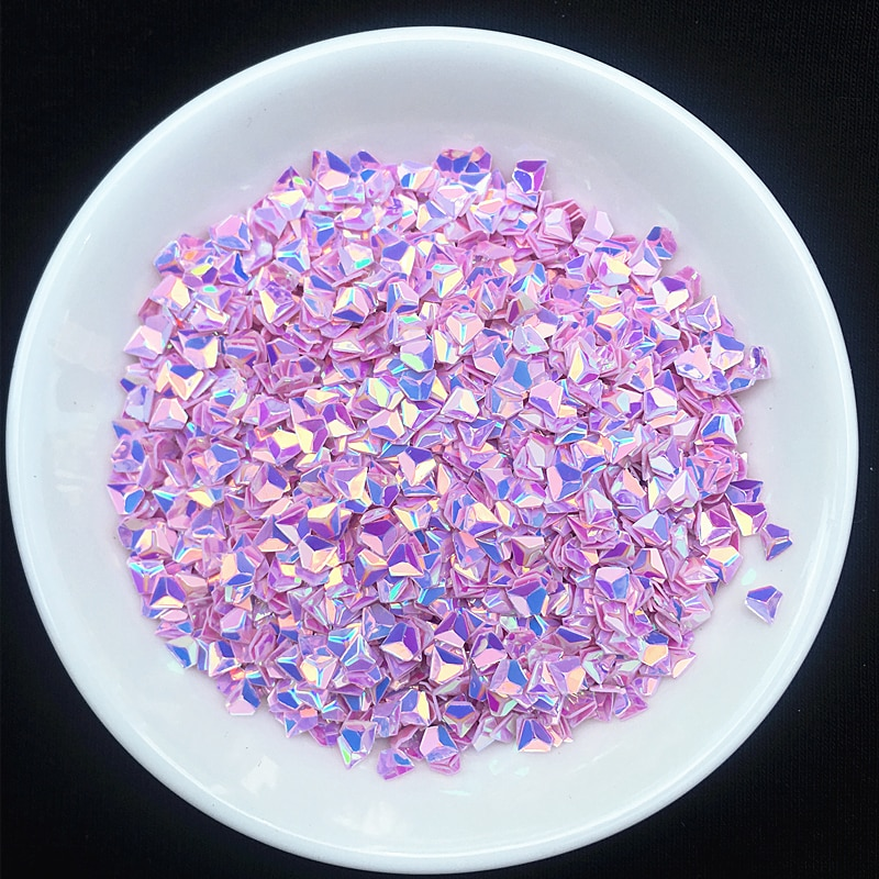 Lila Color de 20 g/lote 3mm 3D lentejuelas con efecto diamante Paillettes...
