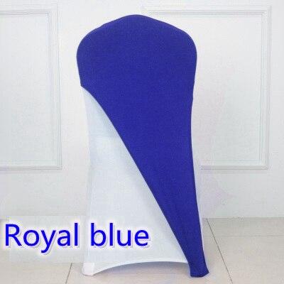 Funda para silla de LICRA de color azul real con tapa de LICRA media cubierta para banquete de boda para hotel