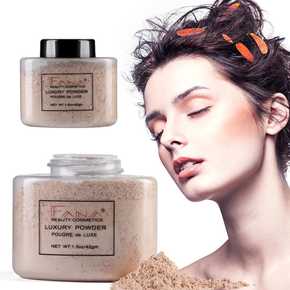 Maquillaje en polvo Banana transparente, acabado suelto, base Mineral, aceite cosmético, Control de larga duración, maquillaje TSLM1