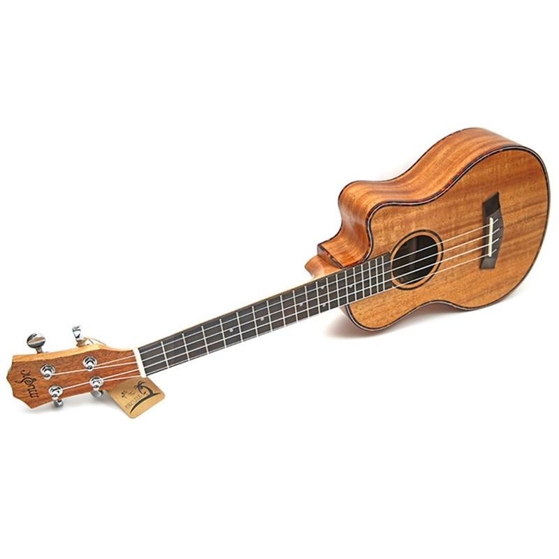 23/26 inch Mahogany Ukulele Hawaiian 4 Strings Mini Travel Guitar Music Instrument Electric Ukulele Pickup EQ Celluloid Binding enlarge