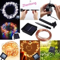 10m 100 led solar led string lights copper wire waterproof outdoor fairy led decor garland solar string lights