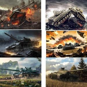 World of tanks Cartaz Imagem Clara Adesivos de Parede Decoração de Casa de Boa Qualidade Impressões de Papel Revestido Branco início arte Marca