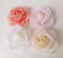 Fleurs artificielles tête fil avec fil chérie roses simulation fleur fleurs bricolage corsage broche vêtements accessoires chaussures fl