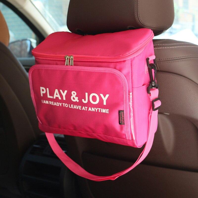 Viaje vehículo paquete de hielo Picnic frío bolsa de almacenaje para comida bolsas refrigerantes bolsa de asiento de coche almuerzo caja fresca almacenamiento hielo Paquete de larga distancia