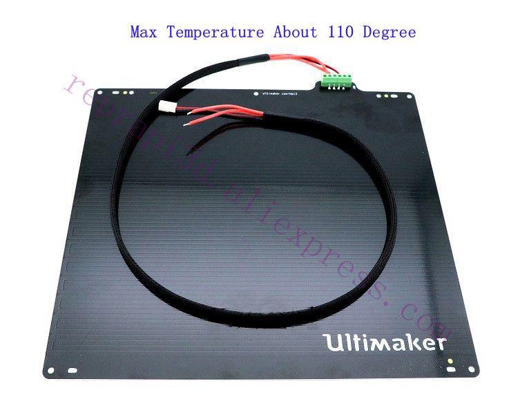 3D-принтер UM2 Ultimaker 2/Ultimaker 2, расширенный UM2 + стол для печати с подогревом 24 в 3,5 Ом Вт/PT100, до 110 градусов