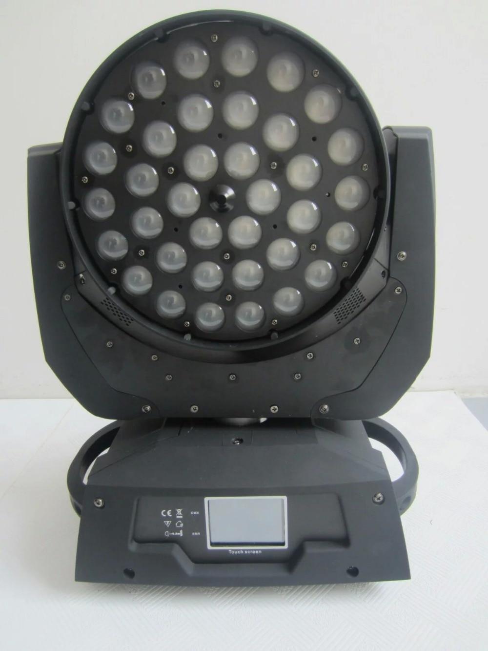 Guangzhou podium licht fabriek LCD touchscreen 36 stks * 18 W RGBWA UV LED zoom moving head dj lichten
