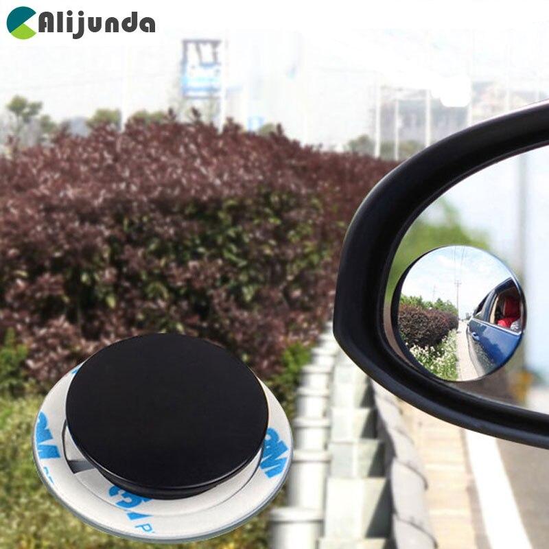 Peças Do Carro 2 Deck Sem Moldura Espelho de Ponto Cego Espelho Lateral Do Carro 360 Grande Angular Rodada Espelho Convexo Espelho Redondo Pequeno Aro espelho