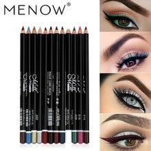 MENOW 12 colores delineador de ojos maquillaje lápiz de ojos impermeable cejas sombra de ojos delineador labio palos cosméticos ojos maquillaje gran oferta