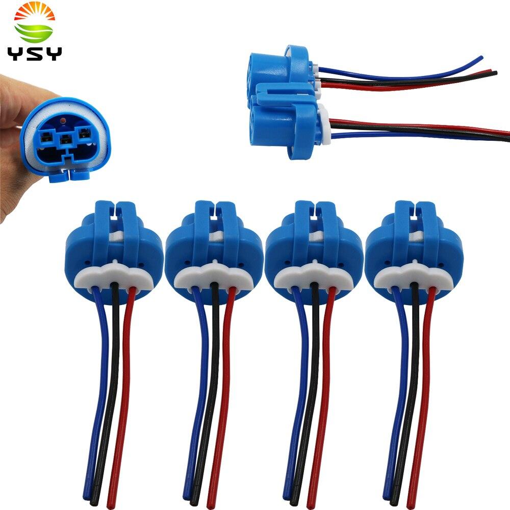 Conector HID YSY 4 Uds 9007 adaptador hembra de enchufe de luz de xenón HB5 conector de enchufe de cable de enchufe de bombilla halógena