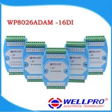 Wp8026adam (16di) _ 디지털 입력 모듈/옵토 커플러 절연/rs485 modbus rtu 통신