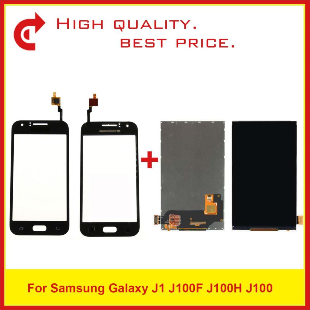 Pantalla táctil Lcd de alta calidad de 4,3 pulgadas para Samsung Galaxy J1 J100 J100H J100F con Panel Sensor de Digitalizador de pantalla táctil Monitor j100