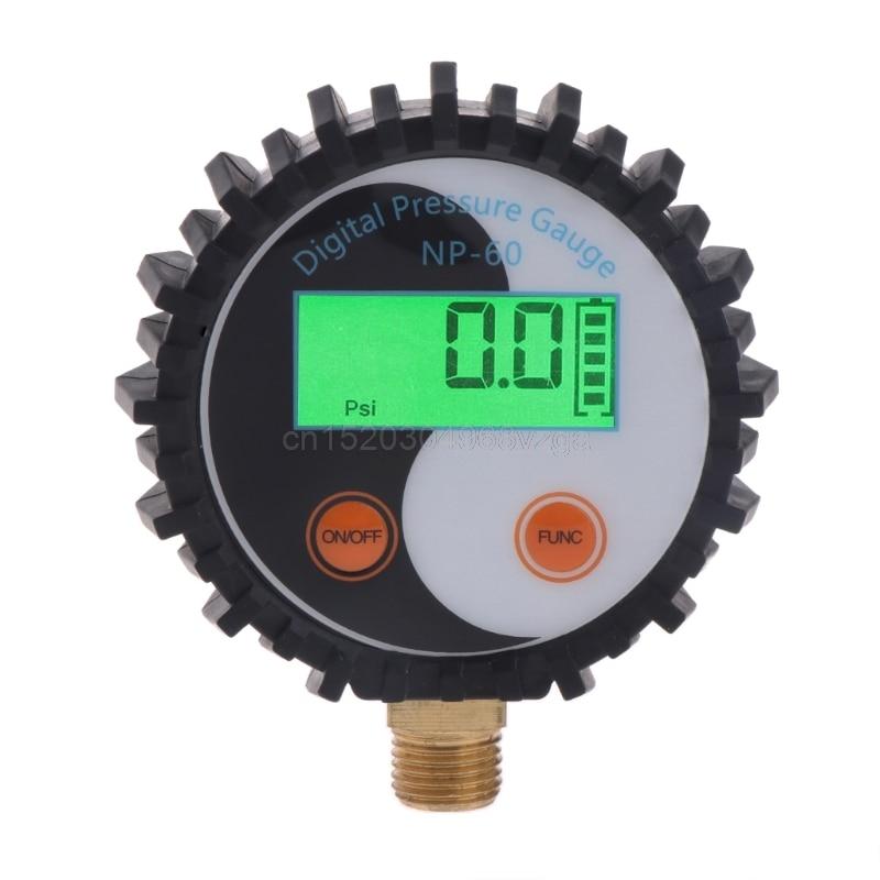 0-10 Bar G1/4 Battery Power Digital Gas Pressure Gauge Tester Detector 0~145psi D25 Drop shipping