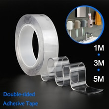 Multifunctional Double-Sided Nano PU Gel Tape Traceless Washable Adhesive Tapes Home Anti-slip Fixed Adhesive