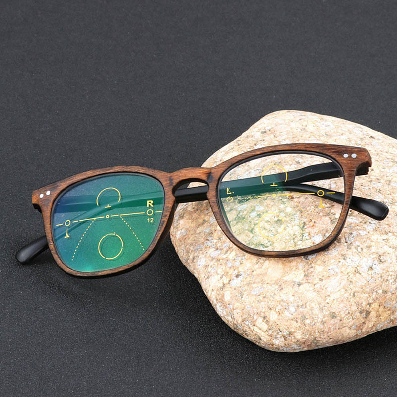 Gafas multifocales progresivas, gafas de sol de transición, gafas de lectura fotocromáticas, puntos de mujer para leer cerca de la visión de lejos