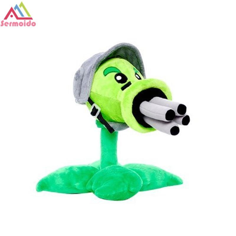 Sermoido Plants vs Zombies Brinquedos PVZ Peashooter Gatling Pea Bonito Macio Fábrica De Brinquedos De Pelúcia Boneca de Brinquedo Do Bebê de Altura para As Crianças presente