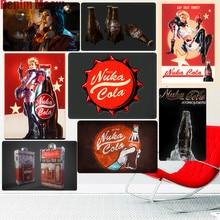 Nuka Cola rétro métal signes Bar Pub plaque décorative Fallout Stickers muraux jeu amoureux Art étain peinture Vintage décor à la maison N258