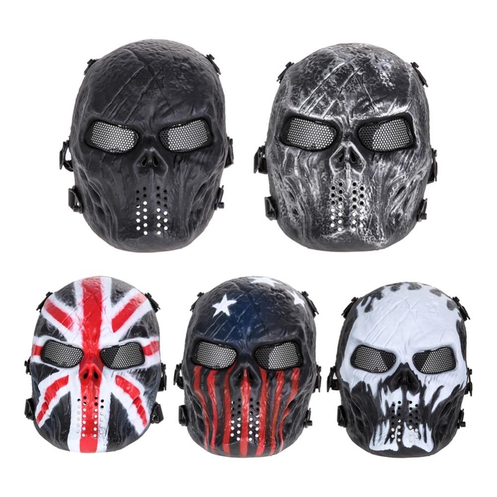 Маскарадный костюм на Хеллоуин, маска с призраком и черепом, маскарадные костюмы для косплея, уличная Тактическая Военная армейская маска из двух страйкбольных масок
