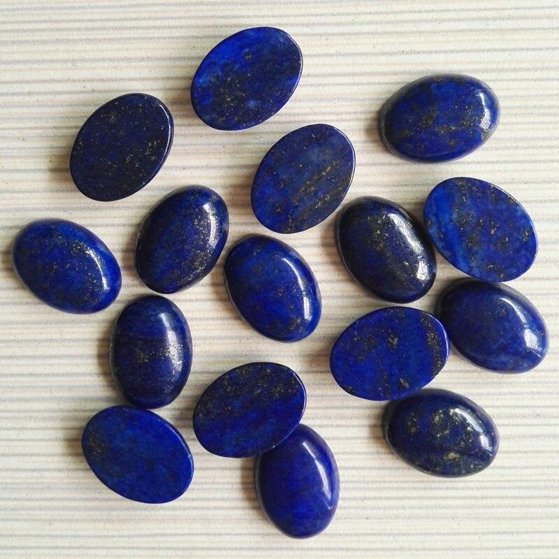 Wholese 13x18mm 30 piezas Lapis lazuli cuentas de piedra de alta calidad cabujón oval de la cabina suelta perlas para joyería
