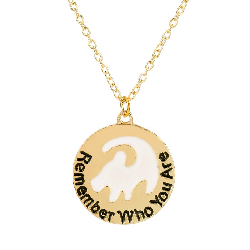 El Rey León Simba collar inspira joyería recuerdo que son cartas de gargantilla de accesorios de moda de mujer de 50cm + Cadena de regalo