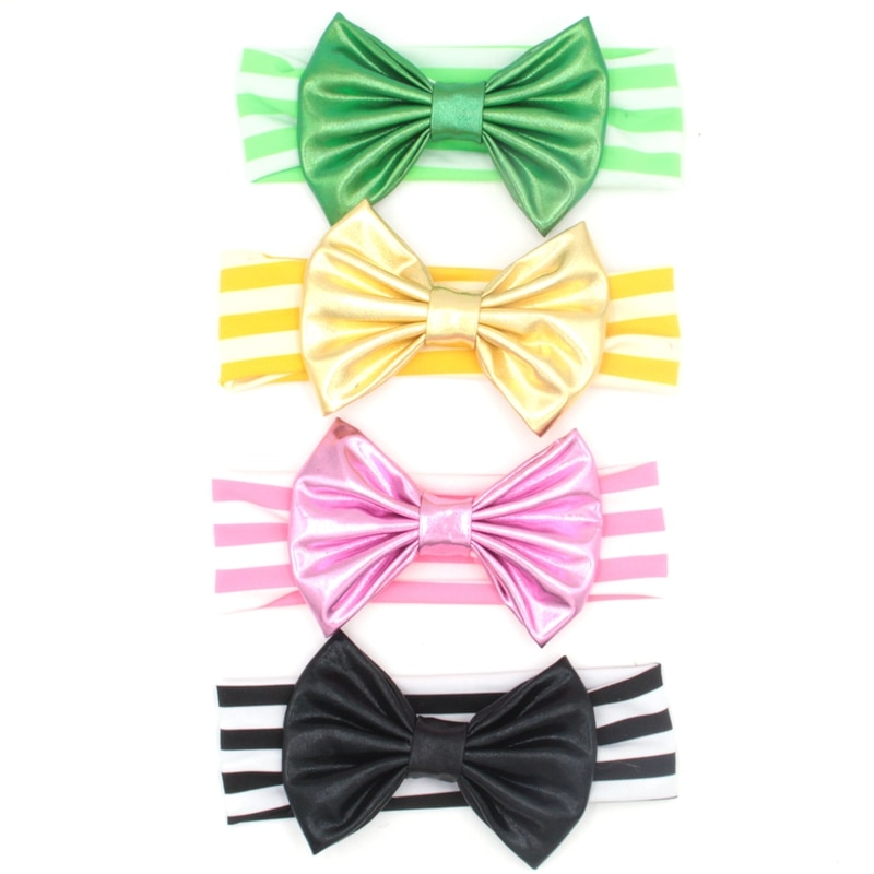 1PC Retail New Chic Baby Headband With 5'' Bow Children Hairband Comfortable Soft Kids DIY Hair Acce
