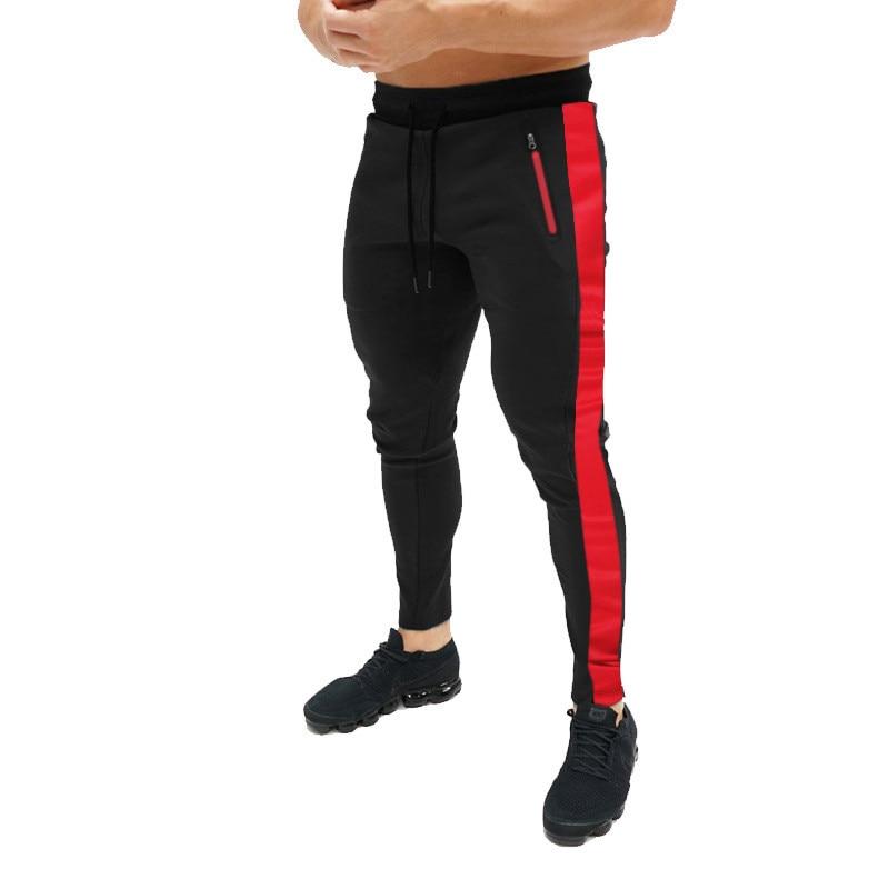 De los hombres de estilo europeo estilo caliente largo Pantalones de deporte de moda de las cuatro estaciones de pantalones slim y Negro pantalones de los hombres populares