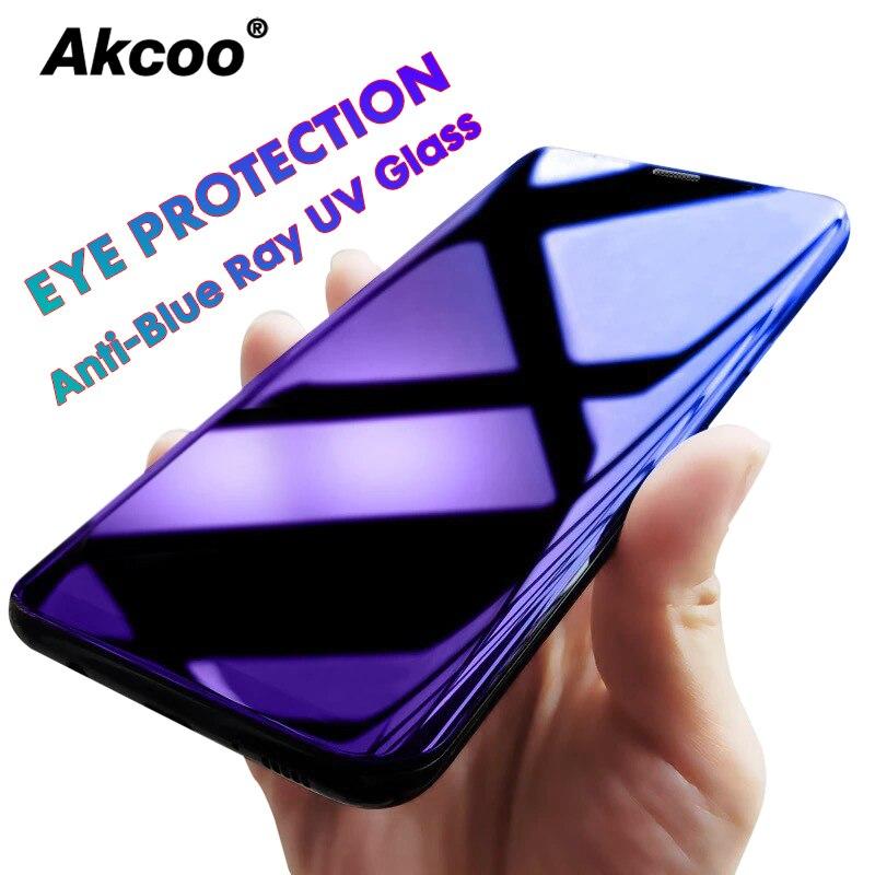 Akcoo S10 Plus защита от синего излучения для Samsung Galaxy S8 9 10e Plus note 8 9 УФ-стекло полная защита для экрана