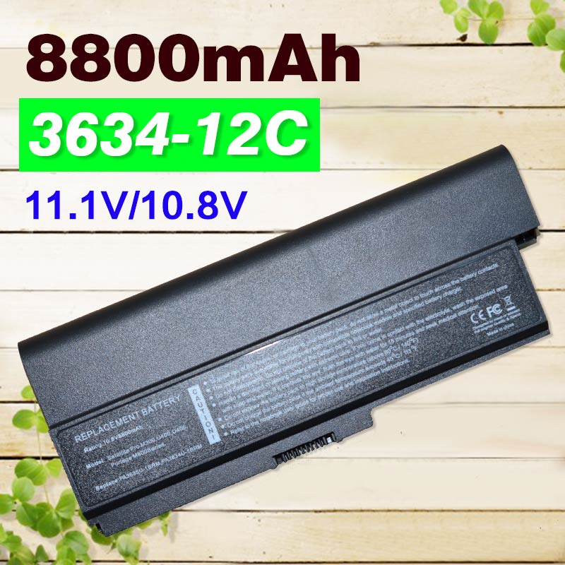 Аккумулятор PA3634 для ноутбука Toshiba Satellite Pro 3000 C650 C660 L510 L600 L630 L640 L650 L670 M300 T130 U400, 12 ячеек, 8800 мАч