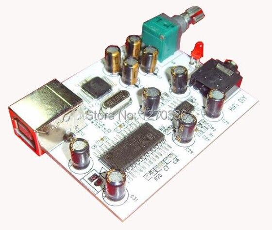 ¡Envío gratis! USB amp CM108 TDA1305T TDA1308 IIS Decodificador USB DAC