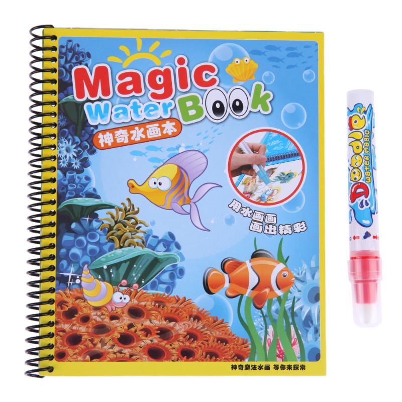 ГОРЯЧАЯ Детская лесная Волшебная водная ткань для рисования, книга для рисования, детские коврики для рисования, игрушки для повторной живописи для детей