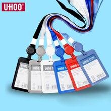 UHOO Ski Pass выдвижной держатель для удостоверения личности с шейным ремешком высокое качество именные значки держатель удостоверения личности оптовая продажа