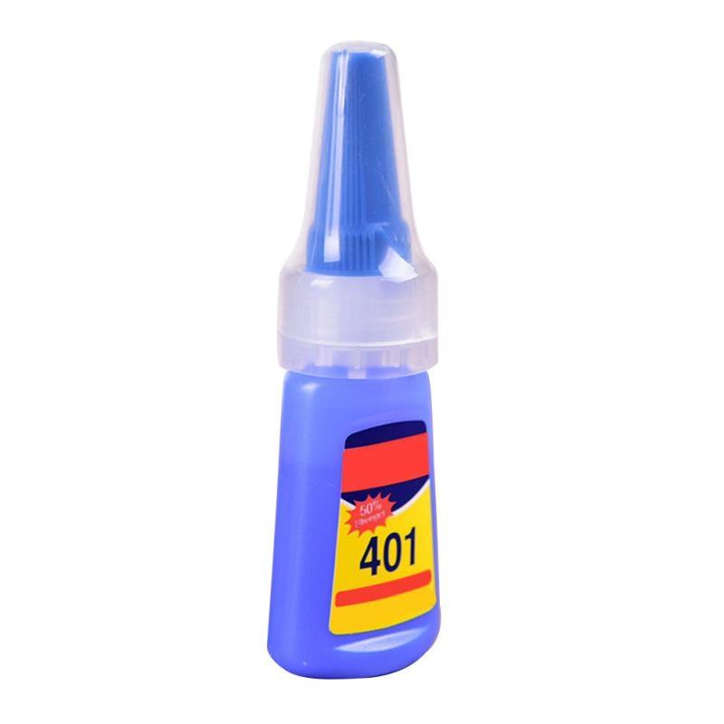 401 Быстрый фиксация мгновенный быстрый клей 20 г бутылка более сильный супер клей многоцелевой ручной работы ювелирный камень Быстросохнущий универсальный клей