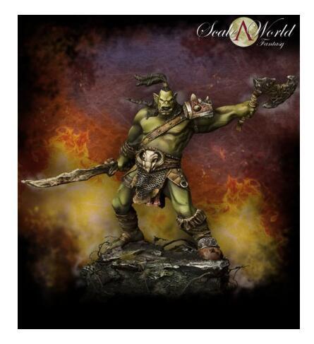 1/24 Shargh Orc soldado furia 75mm resina modelo miniatura figura sin montar sin pintar