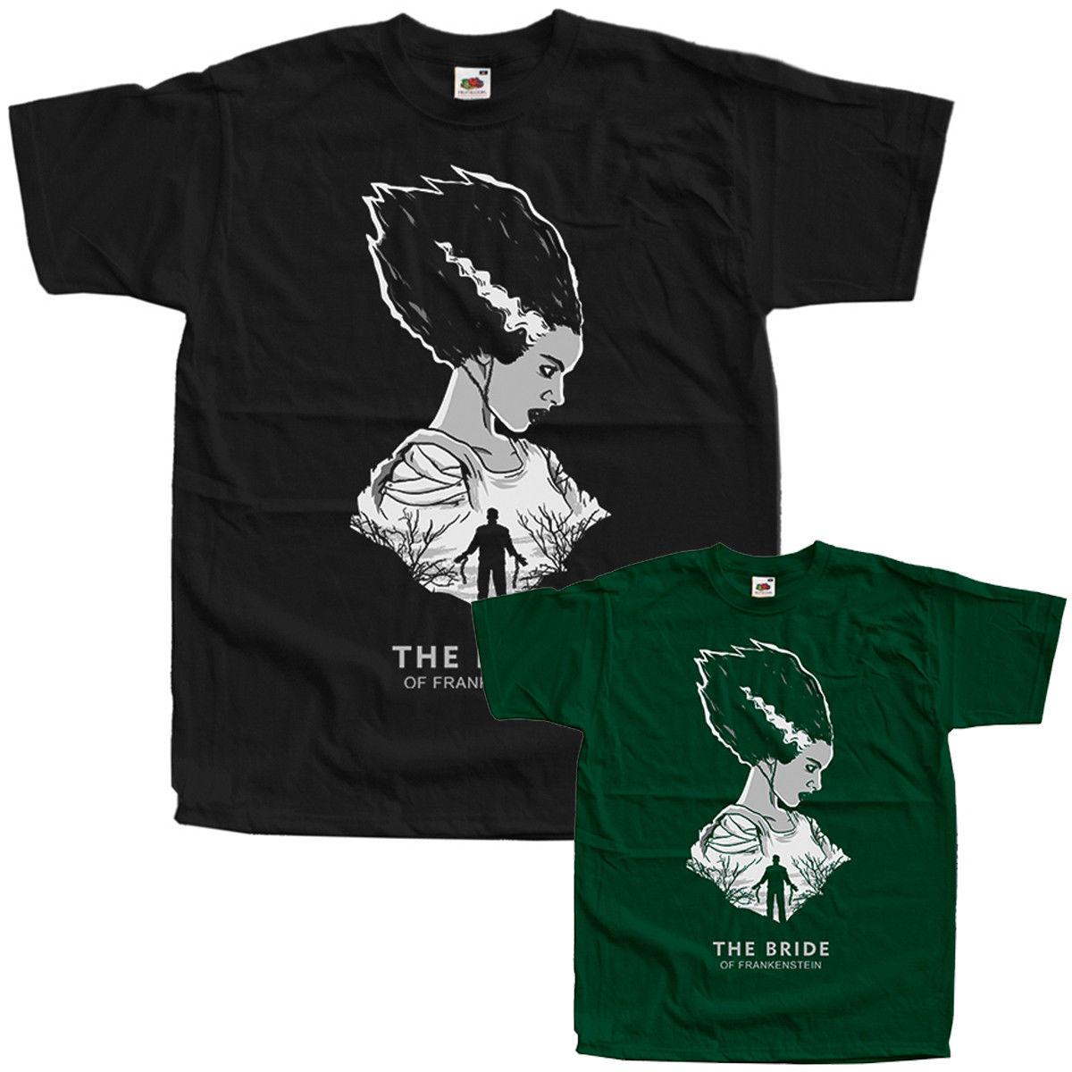 The Bride of Frankenstein ALL SIZES S-3XL movie poster, T-Shirt BLACK Cool xxxtentacion tshirt LGBT streetwear