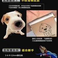 multi function pet dog hair clipper teddy dog electric hair clipper plug in dual use mute shave cross border explosion