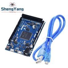 Official Compatible DUE R3 Board SAM3X8E 32-bit ARM Cortex-M3 / Mega2560 R3 Duemilanove 2013 For Arduino Due Board With Cable