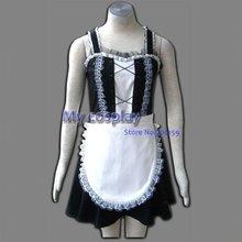 Maid Cosplay Women's Cosplay Costume Sleeveless Black Maid Lolita Dresses Halloween Costumes