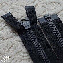 2 Pcs/lot  Oversized Resin Plastic Long YKK Zipper  Black Single Open End Zip Fastenerfor Coat Sewing Accessories Wholesale