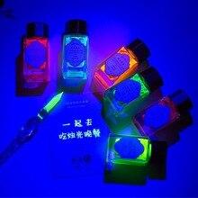 18ml Fantasie Unsichtbare Fluoreszierende Tinte Student Hand Konto Malerei Farbe Tinte Glas Brunnen Stift Tinte