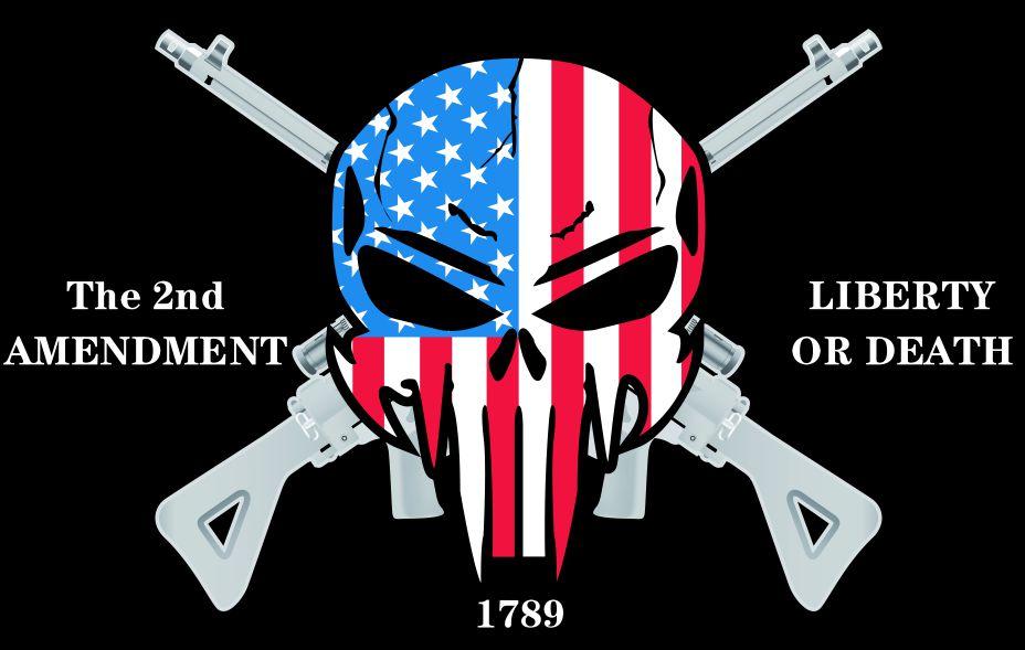 90*150cm la 2nd enmienda liberty or death bandera