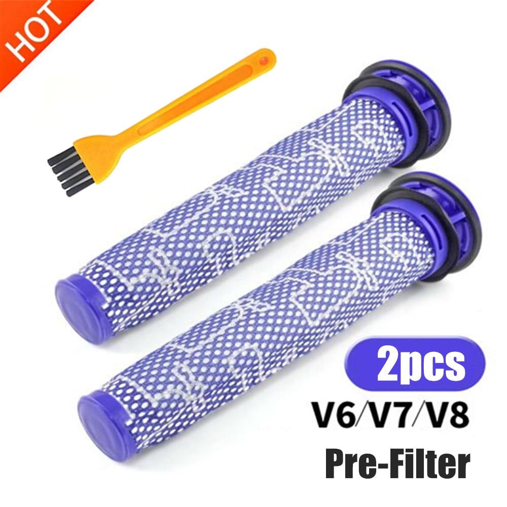 2 * filtros de repuesto para dyson v6 v7 v8 dc62 DC61 DC58 DC59 DC74 Filtro de aspiradora Parte #965661-01 filtro Fette