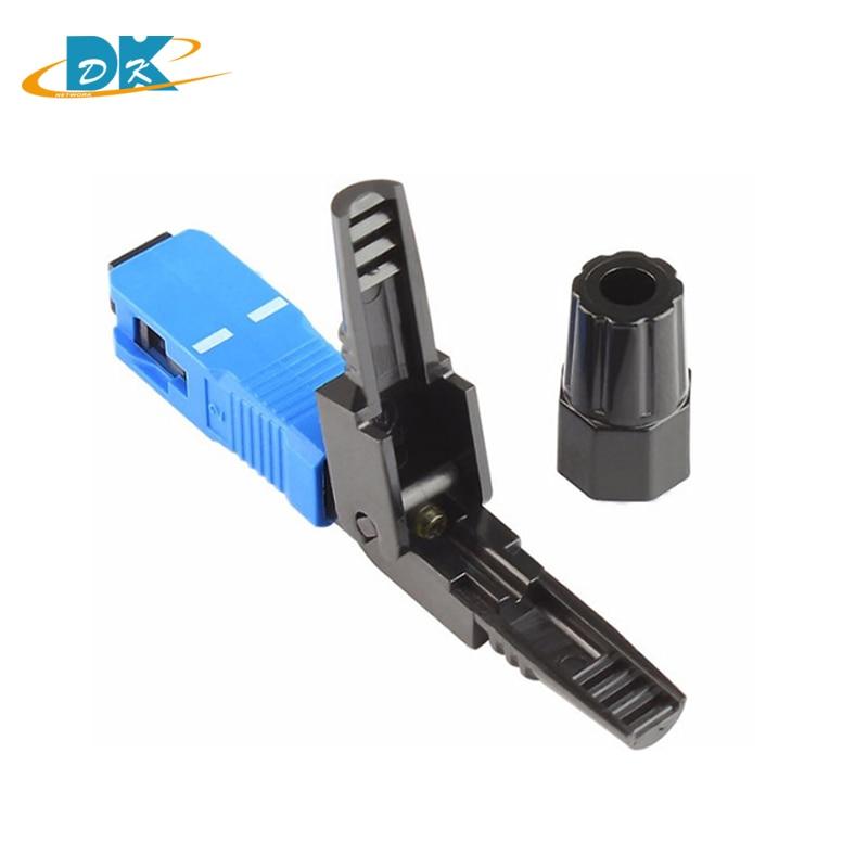 Conector rápido da fibra ótica do único-modo do sc/upc do conector rápido rápido frio do sc apc do sc do sc de ftth dos pces 100