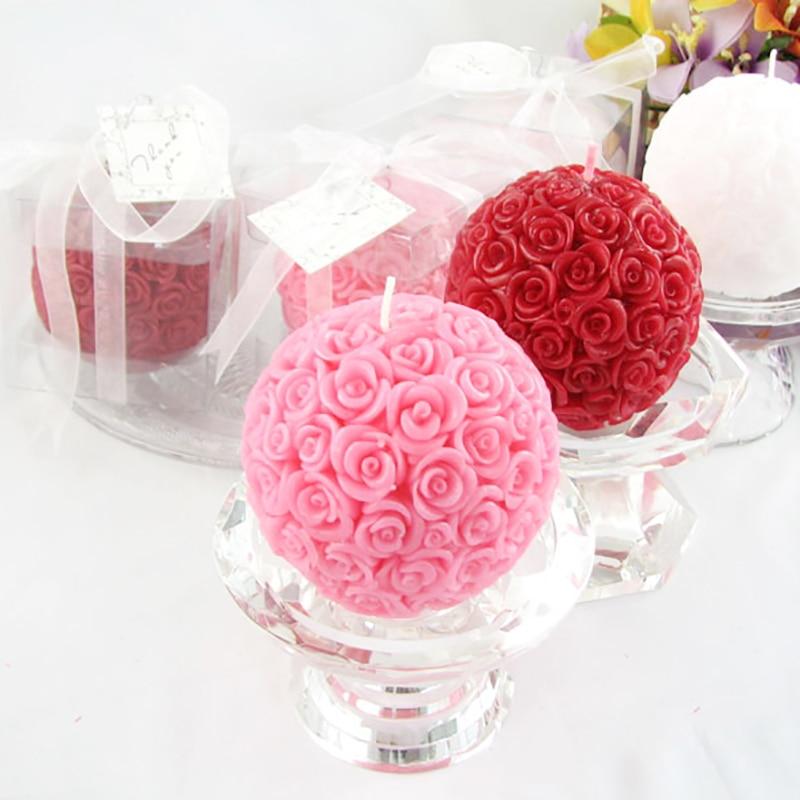 Силиконовая форма для свечей 3D Роза шар ароматерапия форма для мыла, свечи ремесло Смола глина инструмент для украшения