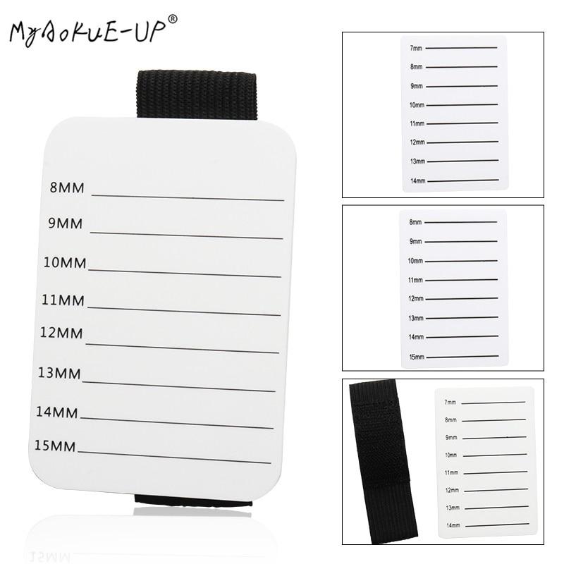 Bandeja para pestañas soporte acrílico adhesivo soporte para Pallet Pad extensiones de pestañas Placa de mano herramientas de maquillaje