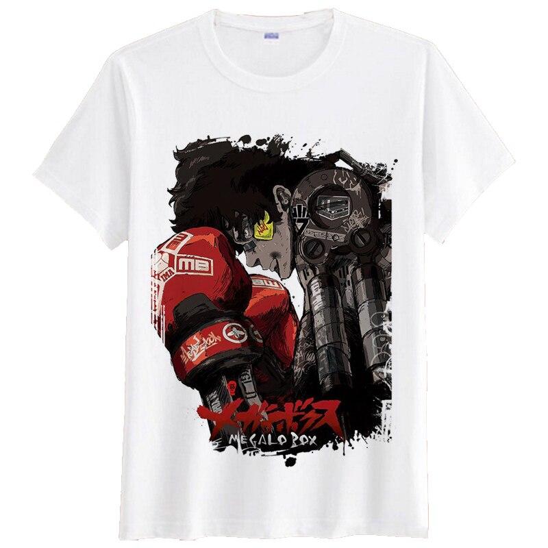 Anime Megalo Box camiseta mujer hombres manga corta Camiseta JOE JNK perro 3D estampado Tops verano Streetwear Hip Hop camisetas