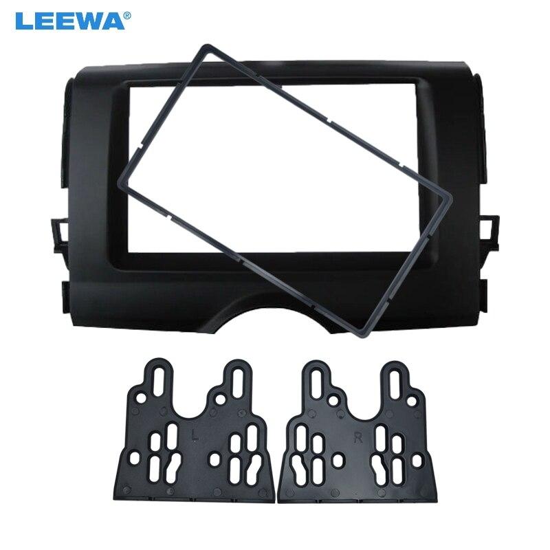 Leewa 2din estéreo rosto painel de fascia quadro para toyota reiz mark x dvd remontagem painel fascia kit traço # ca4887